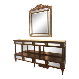 Lillian August Clive Console and Mirror For Sale