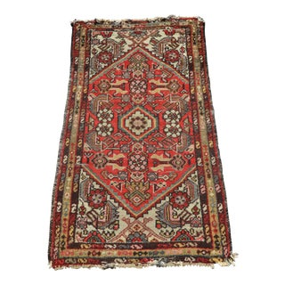 Early 20th Century Antique Persian Handwoven Rug - 4′ × 2′4″ For Sale