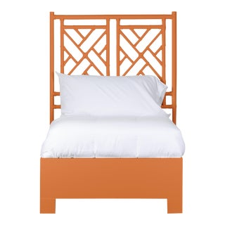 Chippendale Bed Twin Extra Long - Orange For Sale