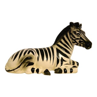 1950's Ceramic Zebra For Sale