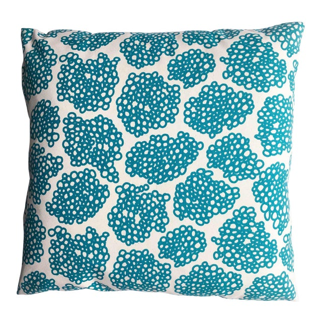 "Studio Bon Topaz Hand-Printed ""Oodles"" Pillow - Image 1 of 4"