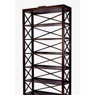Charles Pollock Black & Gold Swedish Empire Etagere Shelving Unit Preview