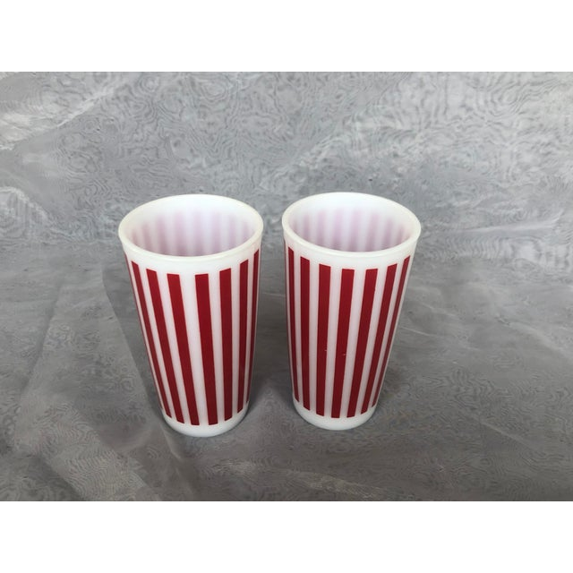 1940s Hazel Atlas Tall Glasses - a Pair For Sale - Image 11 of 13