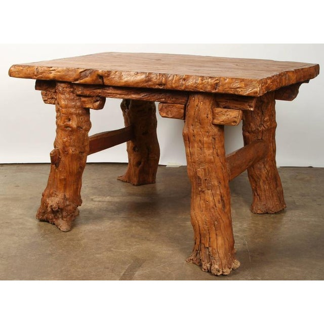 """Early 20th Century Chinese Rustic """"Root"""" Table For Sale - Image 5 of 9"""
