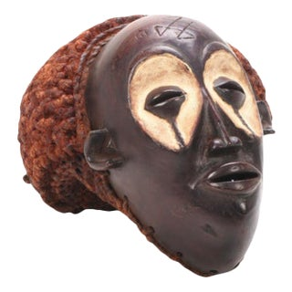 Central African Chokwe Style Hand-Carved Wood Mask For Sale