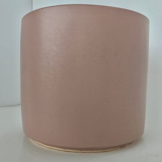 Contemporary Vintage Modern Pink Gainey Planter For Sale - Image 3 of 7