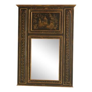 Habersham Paint Decorated Chinoiserie Trumeau Mirror