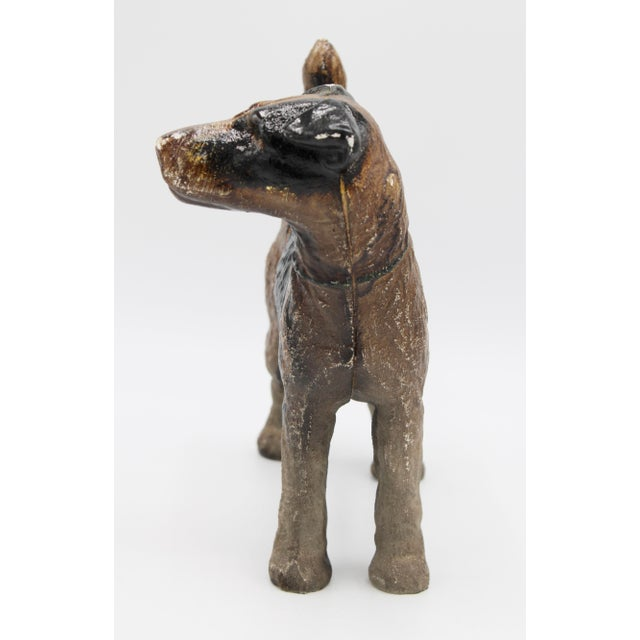 Early 20th Century Antique Cast Iron Hubley Dog Door Stop / Garden Statue For Sale - Image 5 of 13