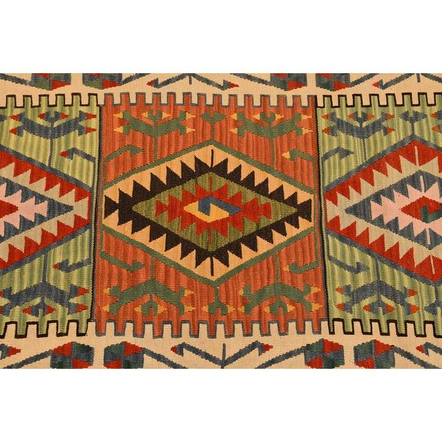 "Turkish Handmade Anatolian Kilim Wool Rug - 3'7"" X 6'2"" For Sale - Image 4 of 6"