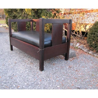 1900s Antique Gustav Stickley Even Arm Settee Preview