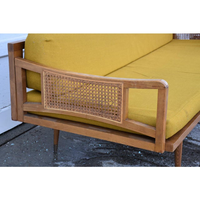 Danish Style Yellow Daybed - Image 4 of 10