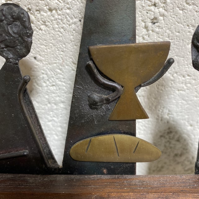 """Mid Century Modern Emaus """"Last Supper"""" Sculpture For Sale - Image 10 of 12"""
