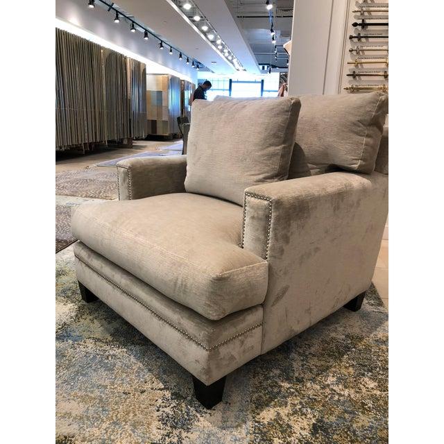 Textile Linen Velvet Gramercy Chair For Sale - Image 7 of 10