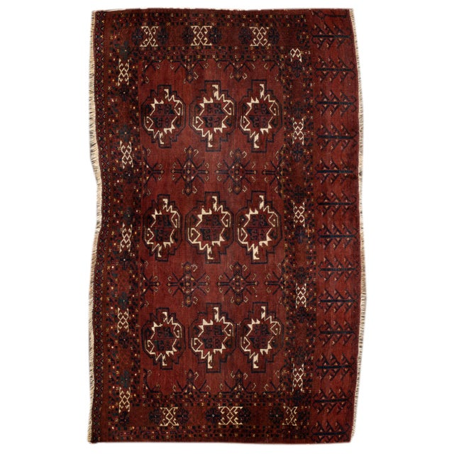 """Textile Antique Tribal Rug, 3'1"""" X 5'4"""" For Sale - Image 7 of 7"""
