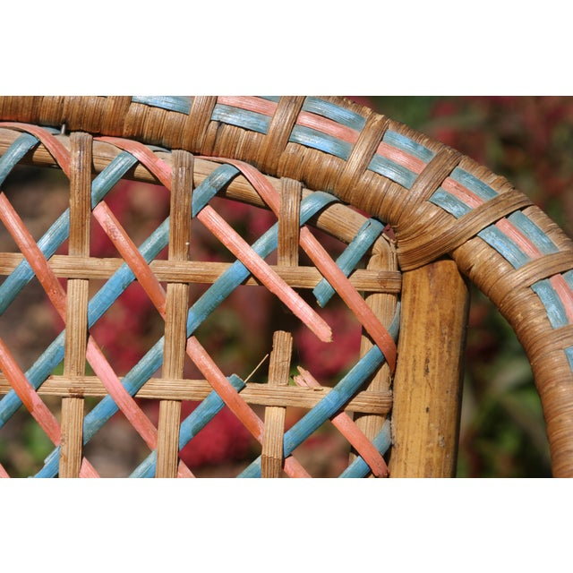 Chestnut Early 20th Century Antique Children's Cane Chair For Sale - Image 8 of 10