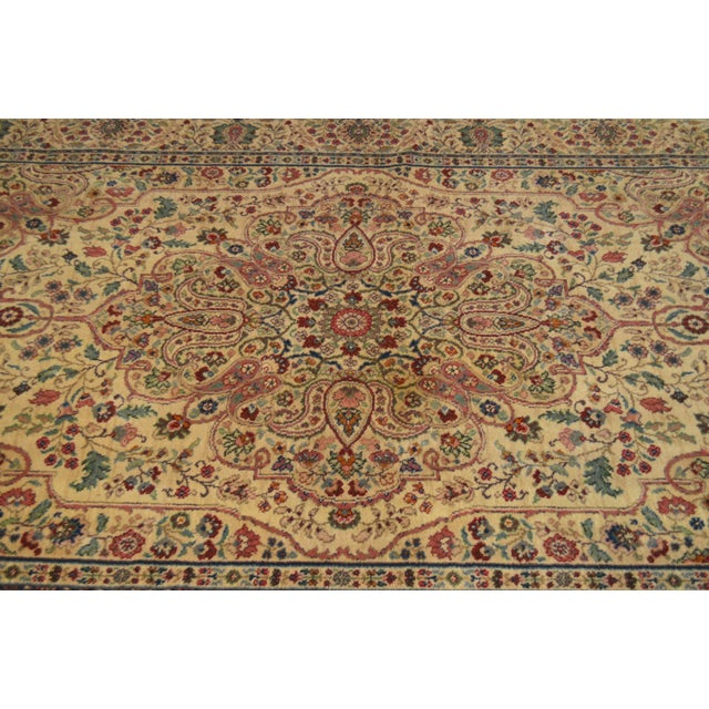 Karastan Tabriz Medallion Samovar Tea Wash 5'9 x 9' Rug For Sale - Image 9 of 12