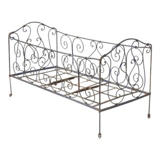 Antique French Child's Bed For Sale