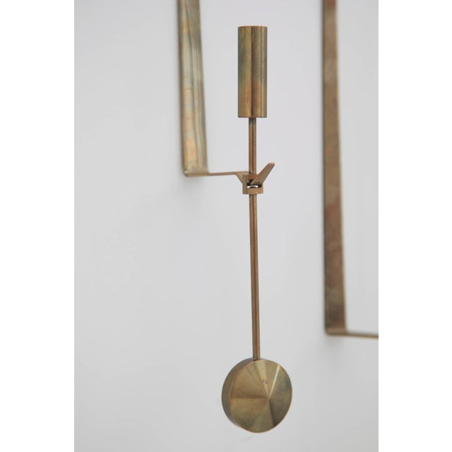 Pierre Forssell Wall Candleholders by Pierre Forssell, Skultuna, Sweden, 1950s For Sale - Image 4 of 5