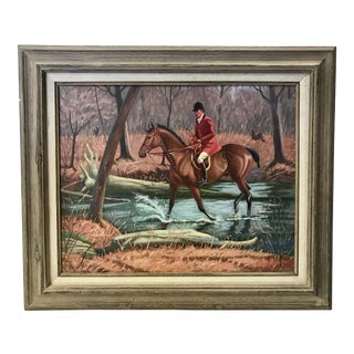 """The Steeplechase"" Oil Painting"