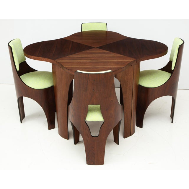 Industrial Henry Glass Cylindra Dining Set For Sale - Image 3 of 13