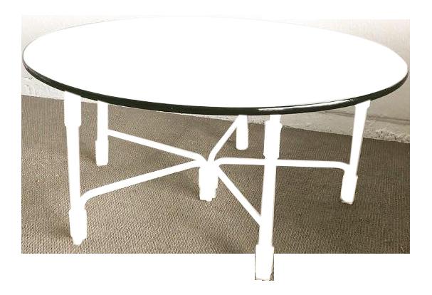 Mid  Century Vintage Hollywood Regency Lucite U0026 Glass Coffee Table