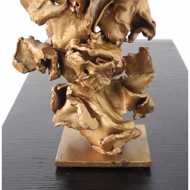 Twisted Metal Flakes Abstract Sculpture For Sale - Image 4 of 8