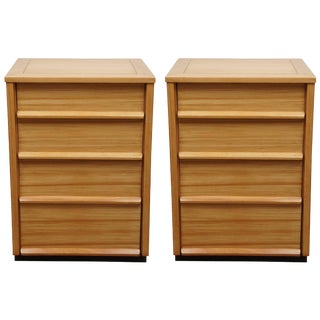 Pair of Three-Drawer Wormley Side Tables for Dunbar, Precedent Line For Sale