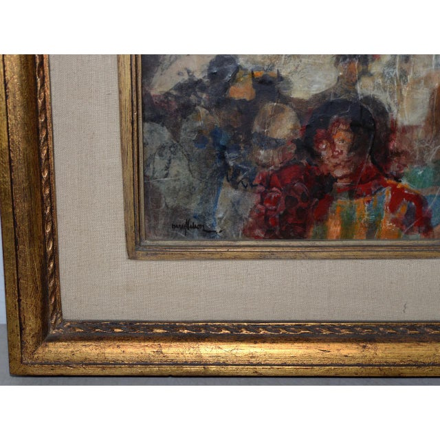 Marsh Nelson (American, Mid 20th C.) Mixed Media Abstract Composition C.1967 For Sale In San Francisco - Image 6 of 8