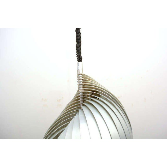 """1960s Mid Century Modern French Pendant Chandelier by Mathieu Lamp """"S"""" Shape For Sale - Image 5 of 8"""