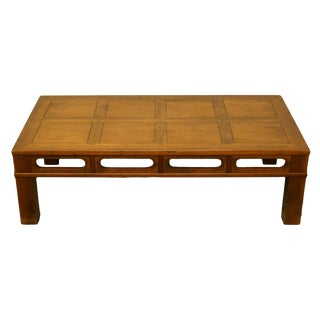 1950s Contemporary Heritage Furniture Banded Walnut Accent Coffee Table For Sale
