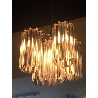 Italian Murano Camer Chrome Glass Chandelier Preview