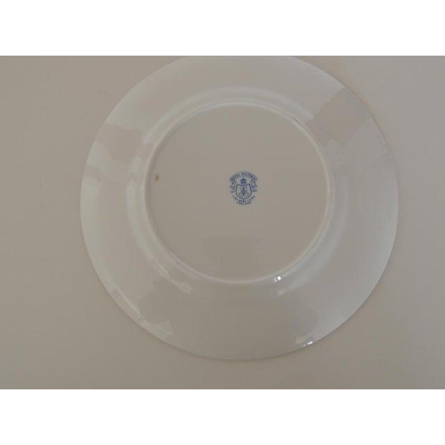 English Royal Victoria English White and Black Bone China Dessert Plate For Sale - Image 3 of 7