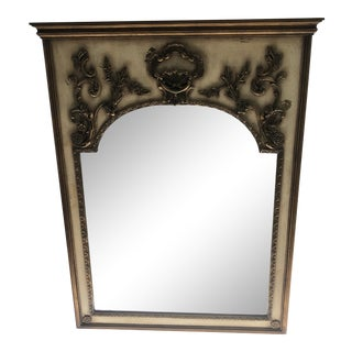 1960s Trumeau Style Gold Leaf Mirror With Rich Details For Sale