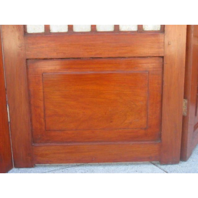 Mid-Century Four Panel Abalone and Mahogany Screen For Sale - Image 4 of 6
