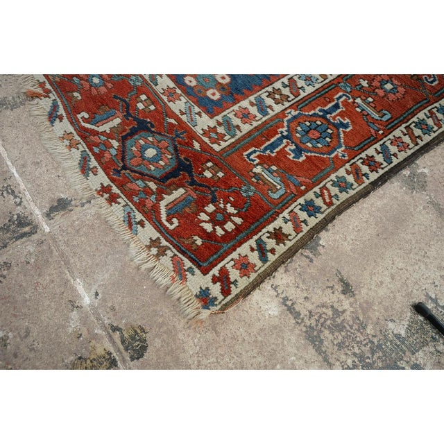 Caucasian Kazak Tribal Design Runner Rug - 4′ × 12′11″ For Sale - Image 10 of 10
