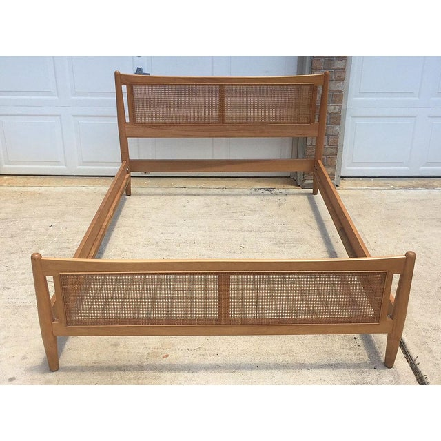 Stylish Danish mid century modern style full bed, believed to be from Drexel's Today's Living line attributed to Milo...