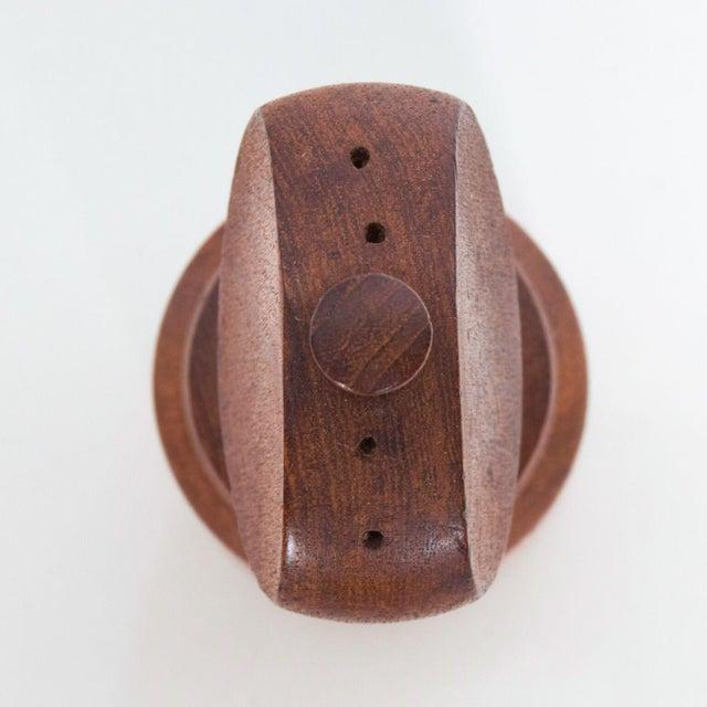 Mid-Century Modern Dansk Danish Modern Sculpted Teak Pepper Shaker Mill #3 For Sale - Image 3 of 6