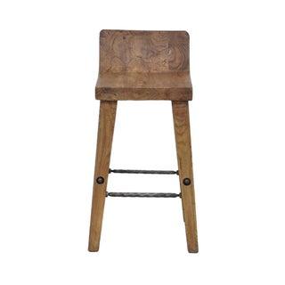 Teak Wood & Iron Bar Stool Preview
