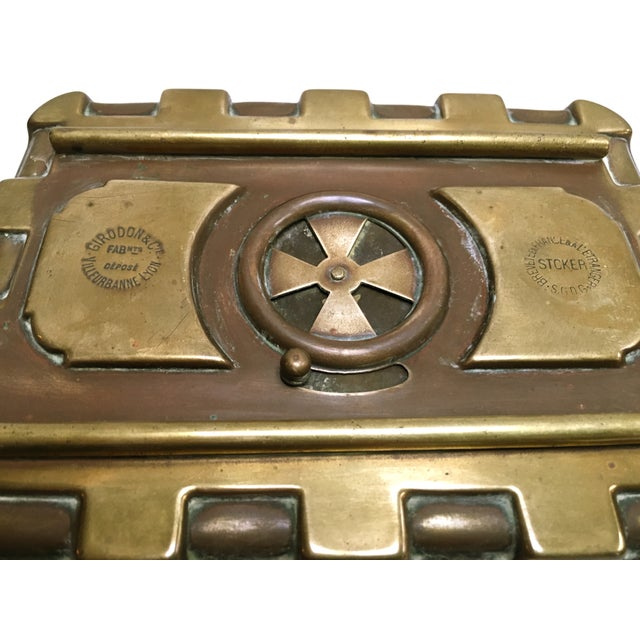 Late 1800s French Carriage Brass Foot Warmer - Image 3 of 8