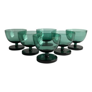 Emerald Green Coupes, Set of 6