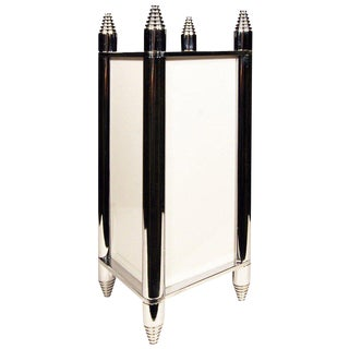 Chrome Art Deco Box Table Lamp or Chandelier For Sale