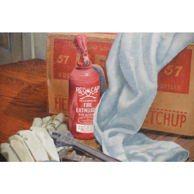 """John T. Axton III (1922-2009) """"Work Bench"""" Original Realism Still Life Oil Painting For Sale In San Francisco - Image 6 of 8"""