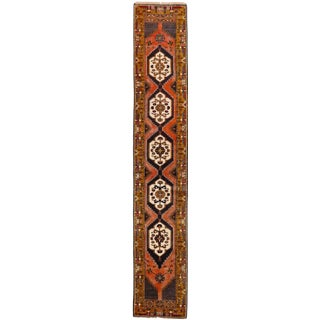 "Old Turkish Village Runner, Fabulous Border, 2'5"" X 13'9"" For Sale"