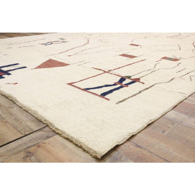 """Contemporary Moroccan Style Rug - 10′3"""" × 13′6″ For Sale In Dallas - Image 6 of 9"""
