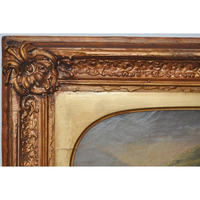 "19th Century European Oil Painting ""Shepherd Family"" - Image 7 of 11"