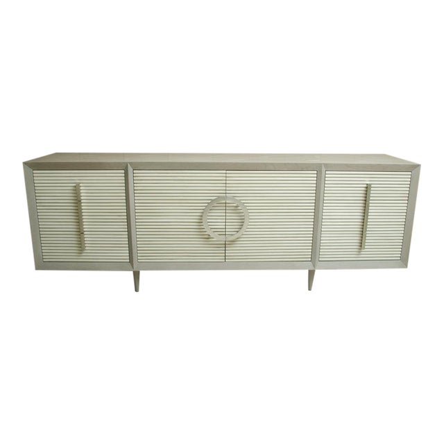 Gray Oak Sideboard With 6-Drawers and 2 Cabinets For Sale