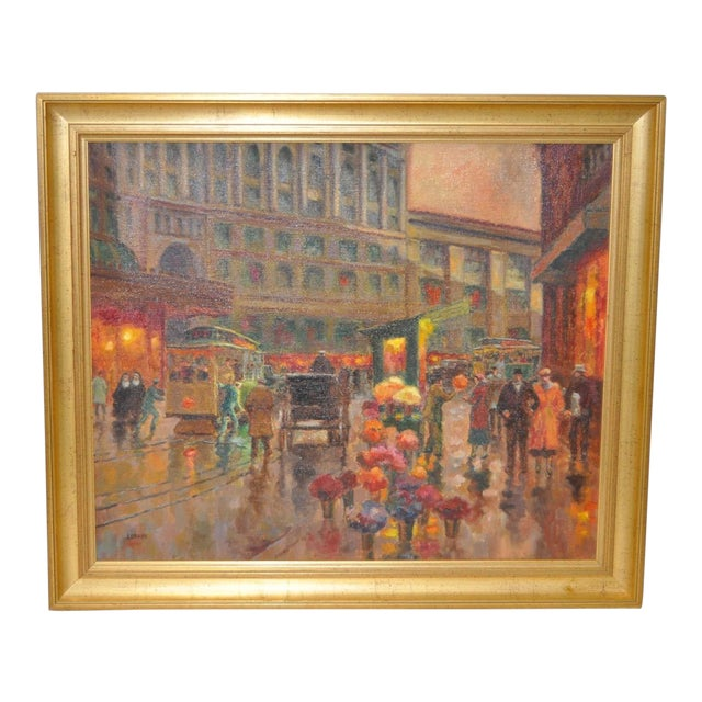 San Francisco Oil Painting by Lorain For Sale