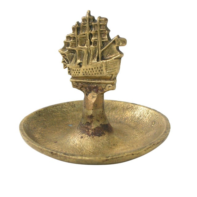 Brass Ship Dish For Sale