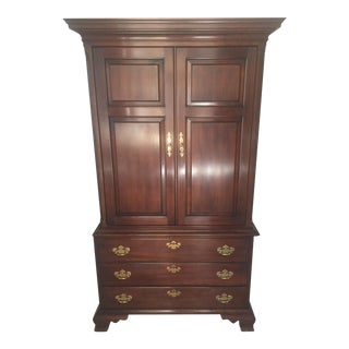 Solid Cherry Wood Armoire
