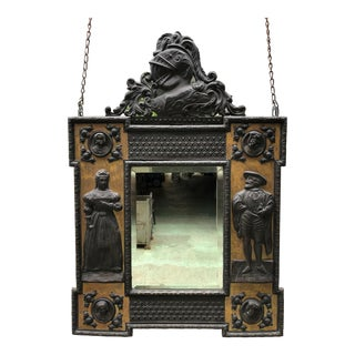 Italian Bronze Mirror For Sale